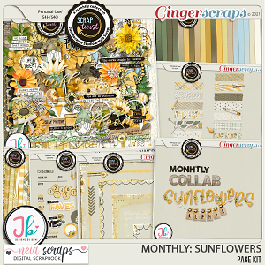 Monthly : Sunflowers - Bundle by Neia Scraps and JB Studio