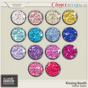 Kissing Booth Glitters by Aimee Harrison
