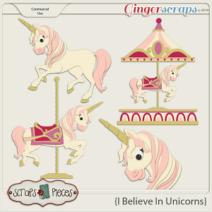 I Believe in Unicorns - CU Templates by Scraps N Pieces