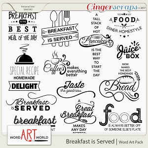 Breakfast is Served Word Art
