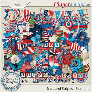 Stars and Stripes - Elements by CathyK Designs