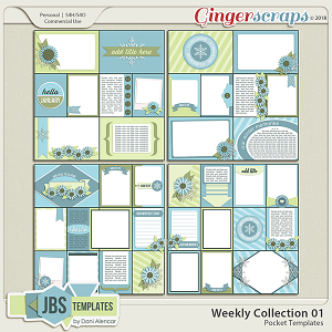 Weekly Collection 1 Pocket Templates by JB Studio