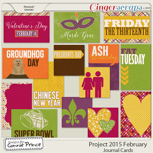 Project 2015 February - Journal Cards