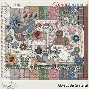 Always Be Grateful Digital Scrapbook Collection by Dandelion Dust Designs