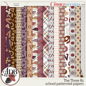 The Three Rs School Patterned Paper by ADB Designs