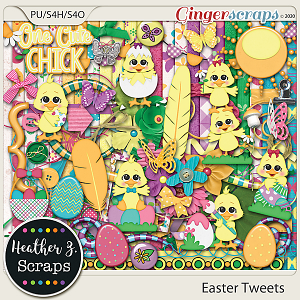Easter Tweets KIT by Heather Z Scraps