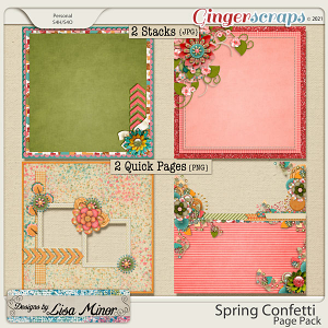 Spring Confetti Page Pack from Designs by Lisa Minor