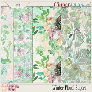 Winter Floral Papers Pack