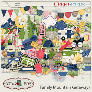 Family Mountain Getaway Embellishments by Scraps N Pieces