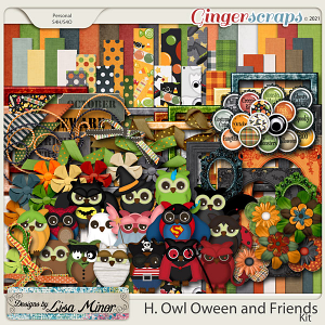 H. Owl Oween and Friends from Designs by Lisa Minor