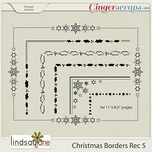 Christmas Borders Rec 5 by Lindsay Jane