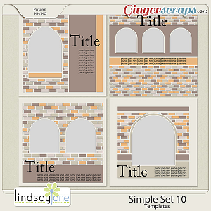 Simple Set 10 Templates by Lindsay Jane