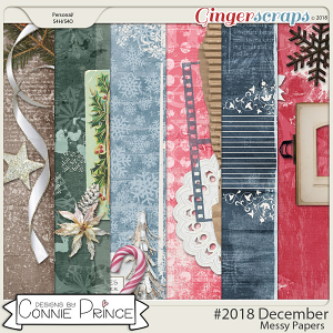 #2018 December - Messy Papers by Connie Prince