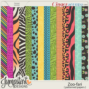Zoo-fari {Patterned Papers} by Jumpstart Designs