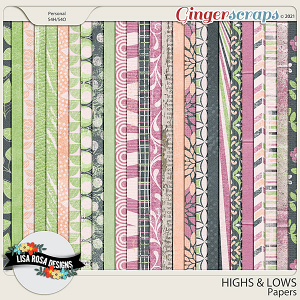 Highs and Lows - Papers by Lisa Rosa Designs