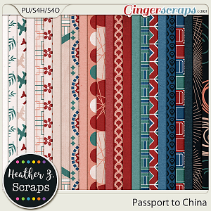 Passport to China PAPERS by Heather Z Scraps