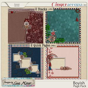Boyish Page Pack from Designs by Lisa Minor