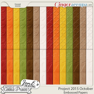 Project 2015 October - Embossed Papers