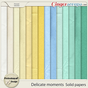 Delicate moments Solid papers