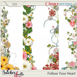 Follow Your Heart Borders 1 by Snickerdoodle Designs