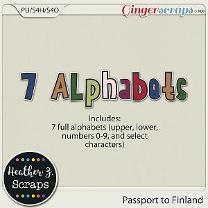 Passport to Finland ALPHABETS by Heather Z Scraps