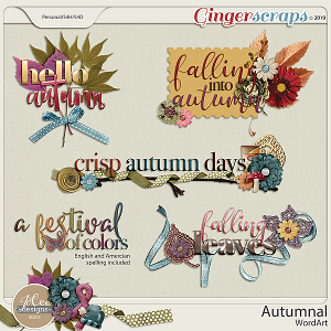 Autumnal Word Art by JoCee Designs