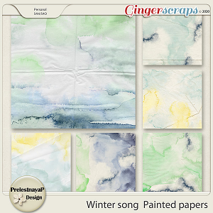 Winter song Painted papers