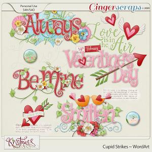Cupid Strikes WordArt