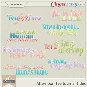 Afternoon Tea Titles