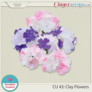 CU 43 - Clay flowers