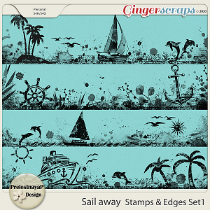 Sail away Stamps & Edges Set1