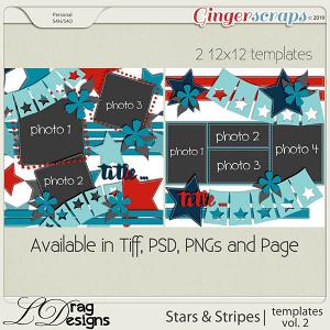 Stars & Stripes:Templates Vol. 2 by LDragDesigns