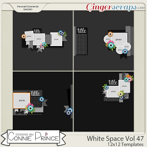 White Space Volume 47 - 12x12 Temps (CU Ok) by Connie Prince