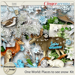 One World: Places to see snow Kit