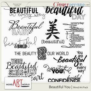 Beautiful You Word Art