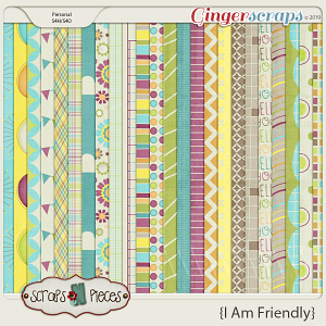 I am Friendly Papers by Scraps N Pieces