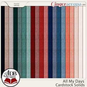 All My Days Solid Papers by ADB Designs