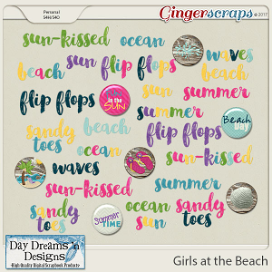 Girls at the Beach {Wordart} by Day Dreams 'n Designs