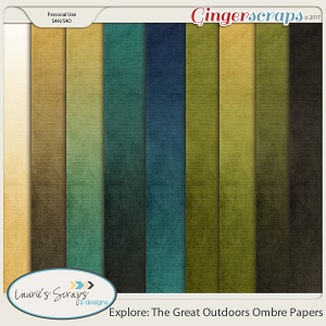 Explore: The Great Outdoors Ombre Papers
