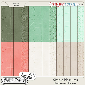 Simple Pleasures - Embossed Papers