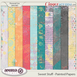 Sweet Stuff - Painted Papers by Aprilisa Designs