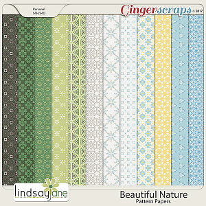 Beautiful Nature Pattern Papers by Lindsay Jane