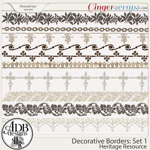 Heritage Resources - Decorative Borders Set 01 by ADB Designs