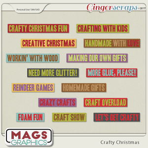 Crafty Christmas WORD STRIPS by MagsGraphics