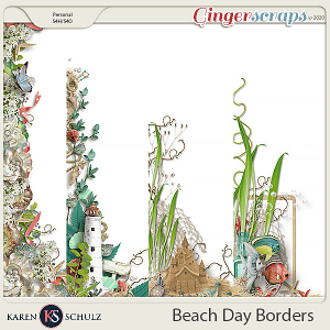 Beach Day Borders by Karen Schulz