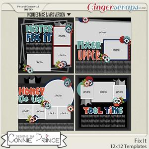 Fix It  - 12x12 Templates (CU Ok) by Connie Prince