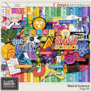 Weird Science Page Kit by Aimee Harrison
