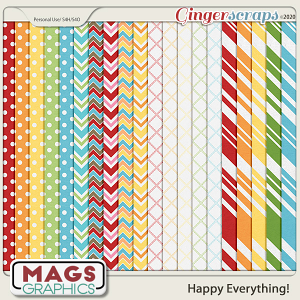 Happy Everything EXTRA PAPERS by MagsGraphics