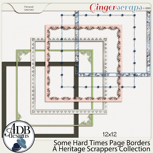 Some Hard Times Page Borders by ADB Designs