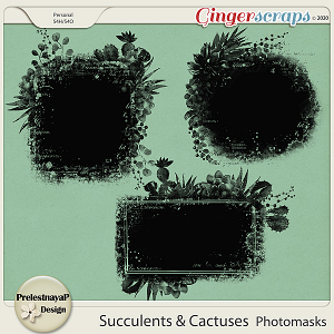 Succulents and Cactuses Photomasks